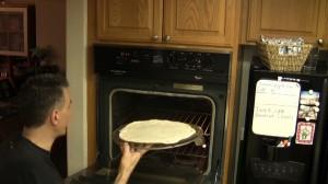 Cottura pizza teglia perforata