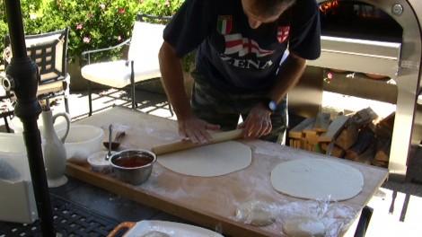 forno a legna pizza fatta in casa