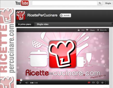 Il canale youtube di RicettePerCucinare