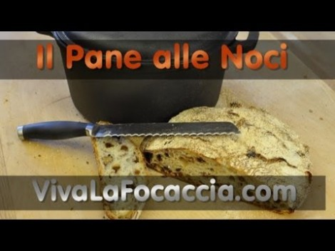 Video thumbnail for youtube video Video Ricetta Pane alle Noci Semplice Fatto in Casa